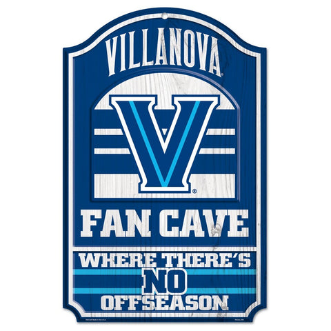 Villanova Wildcats Fan Cave Wood Sign