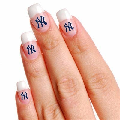 New York Yankees Finger Nail Tattoo
