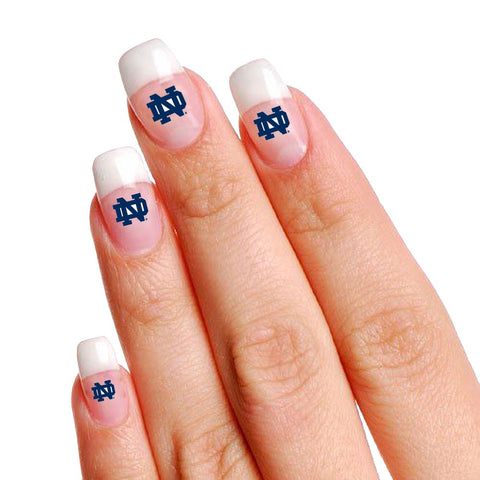 Notre Dame Fighting Irish Finger Nail Tattoo