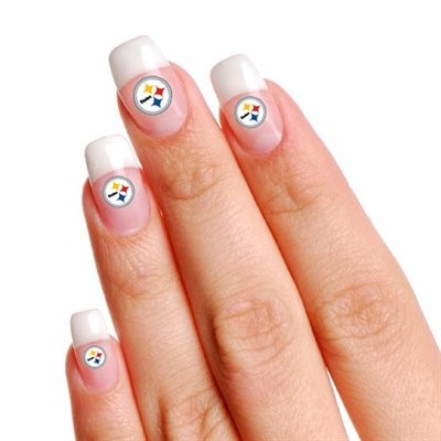Pittsburgh Steelers Finger Nail Tattoo