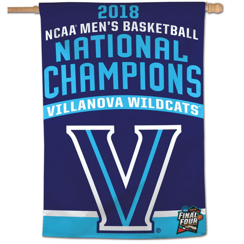 "Villanova Wildcats 2018 NCAA Men's Basketball Champions 28"" x 40"" Vertical House Flag"