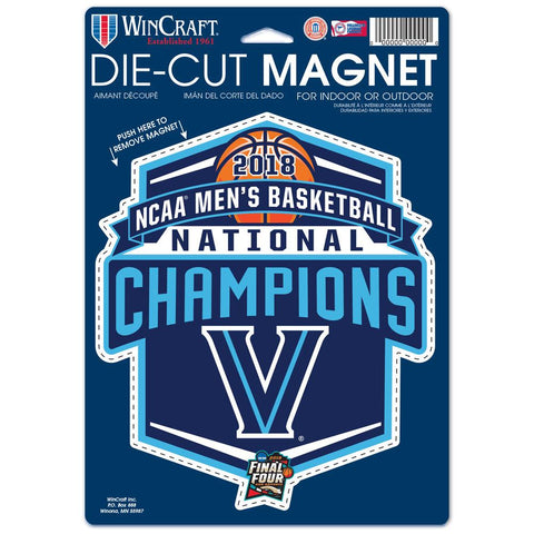"2018 NCAA Men's Basketball Champions 6""x9"" Logo Magnet"
