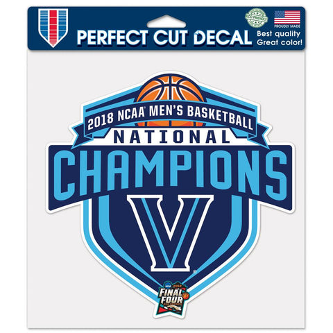 "Villanova Wildcats 2018 NCAA Men's Basketball Champions 8""x8"" Perfect Cut Decal, Color"