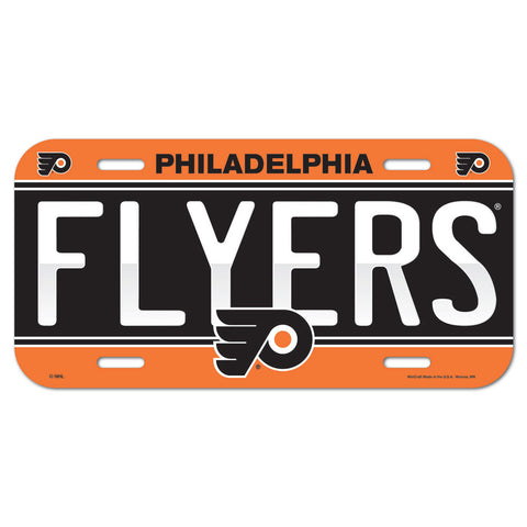 Philadelphia Flyers Plastic License Plate