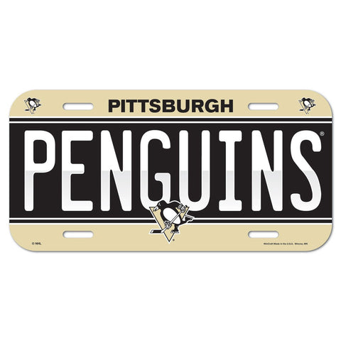Pittsburgh Penguins Plastic License Plate