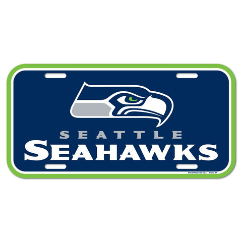 Seattle Seahawks Plastic License Plate