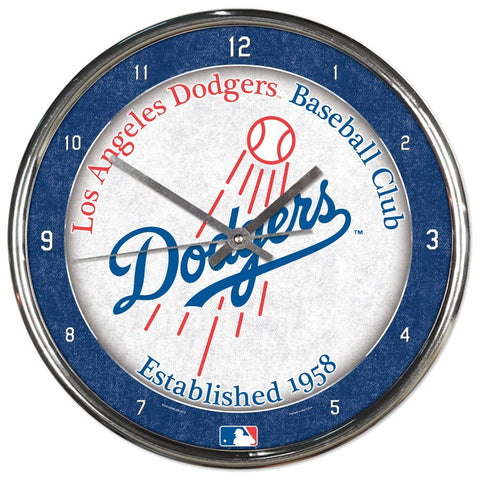 Los Angeles Dodgers Round Chrome Clock