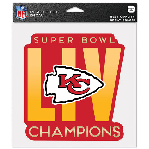 "Kansas City Chiefs Super Bowl LIV Champion 8"" x 8"" Die Cut Decal"