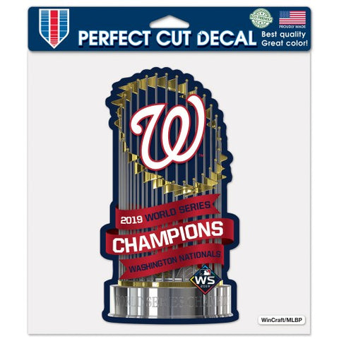 "Washington Nationals 2019 World Series Champion 8"" x 8"" Color Decal"