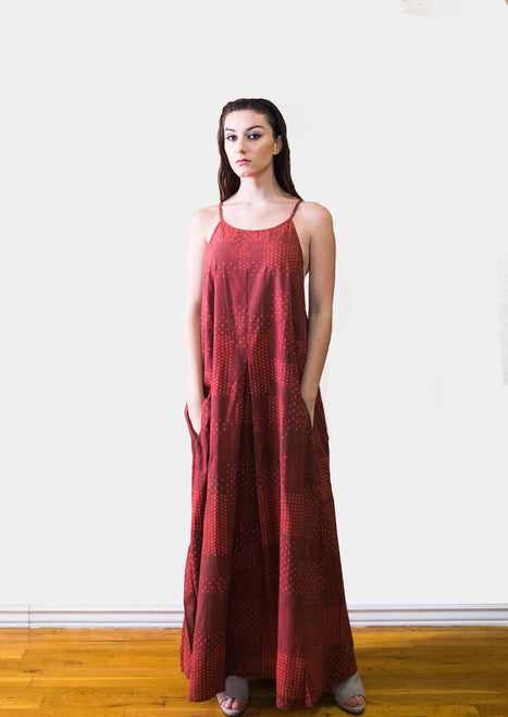 Lola red sleeveless maxi dress