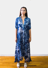 Charu blue patterned maxi dress