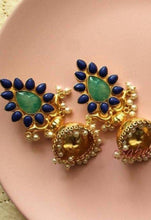 Neelam gold earrings