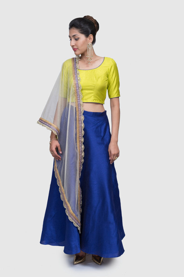 Halie Color Block Lehenga