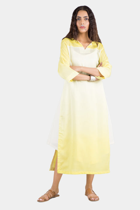 Saloni yellow ombré long kurta set