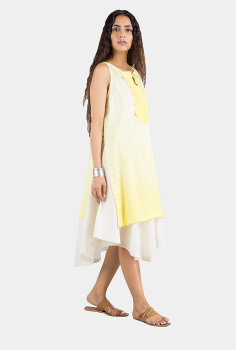 Saloni yellow ombré summer dress