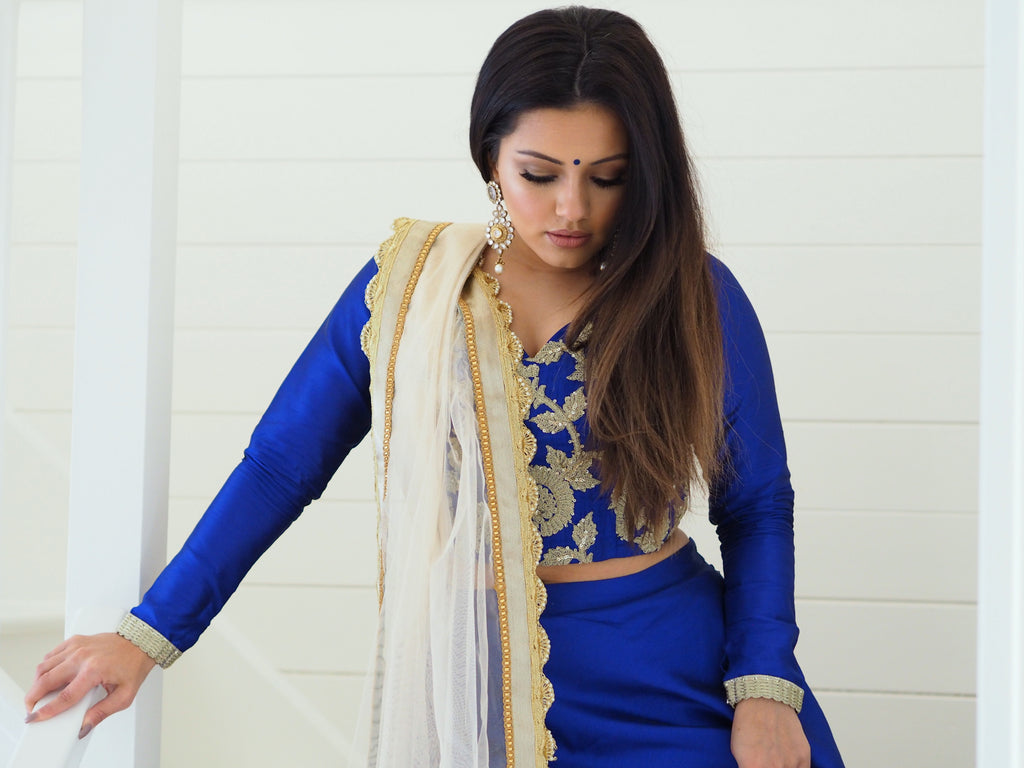 Kaushal blue electra top