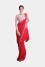 Vedi red sari set