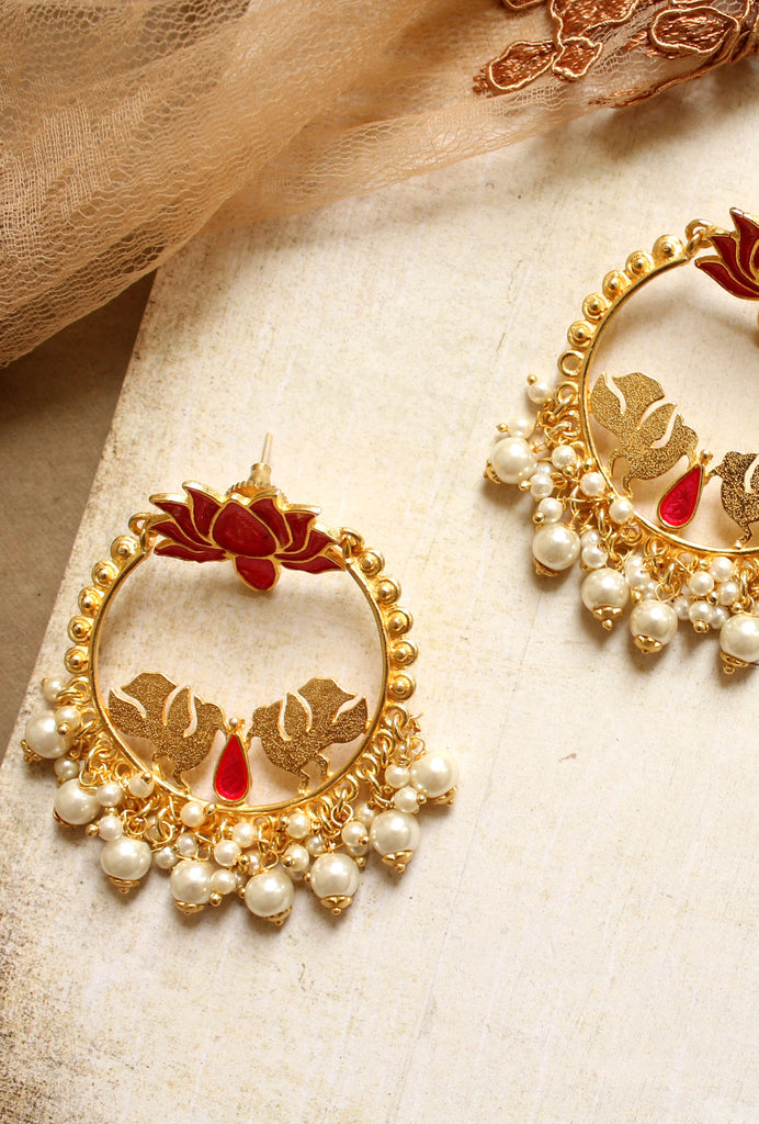 Tamara pearl hoop earrings