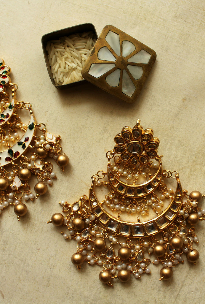 Pavithra gold layered earrings
