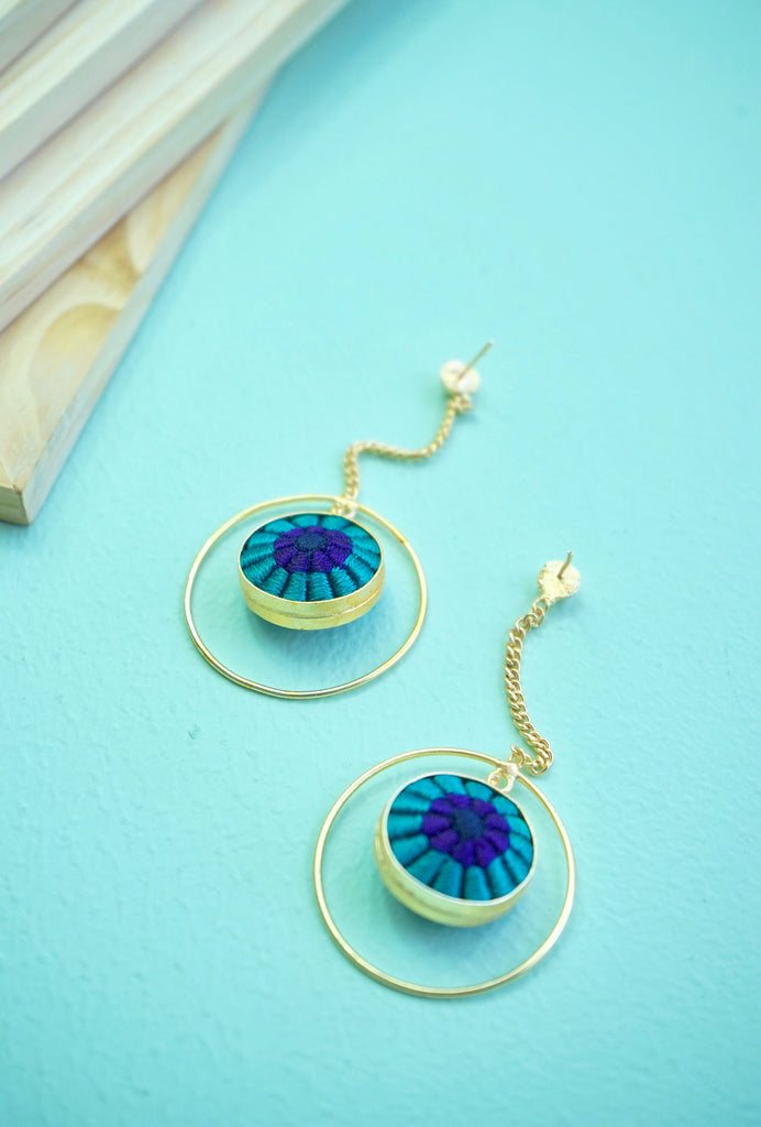 Suhani blue drop earrings