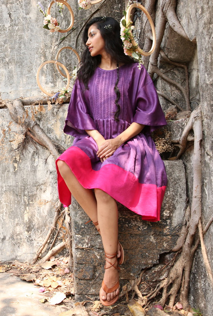 Anika purple and pink box dress