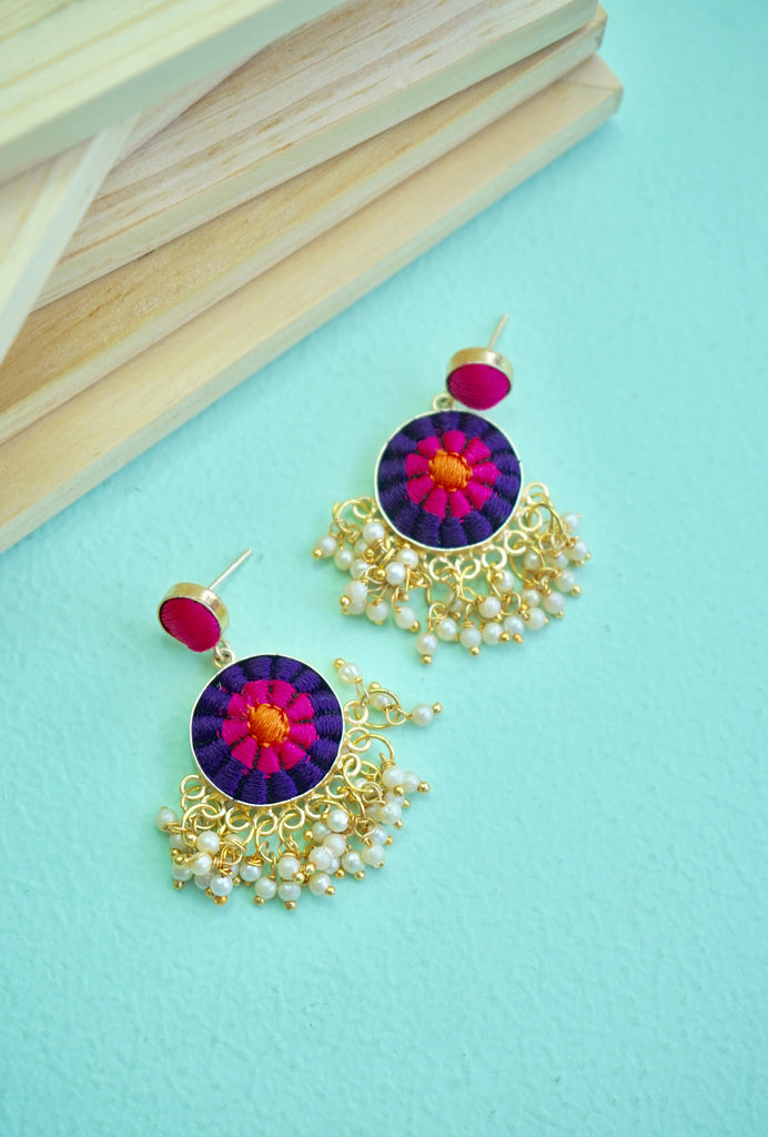Nikki purple and pink earrings