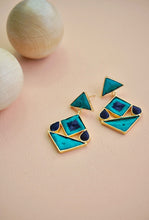 Shiksha blue geometic earrings
