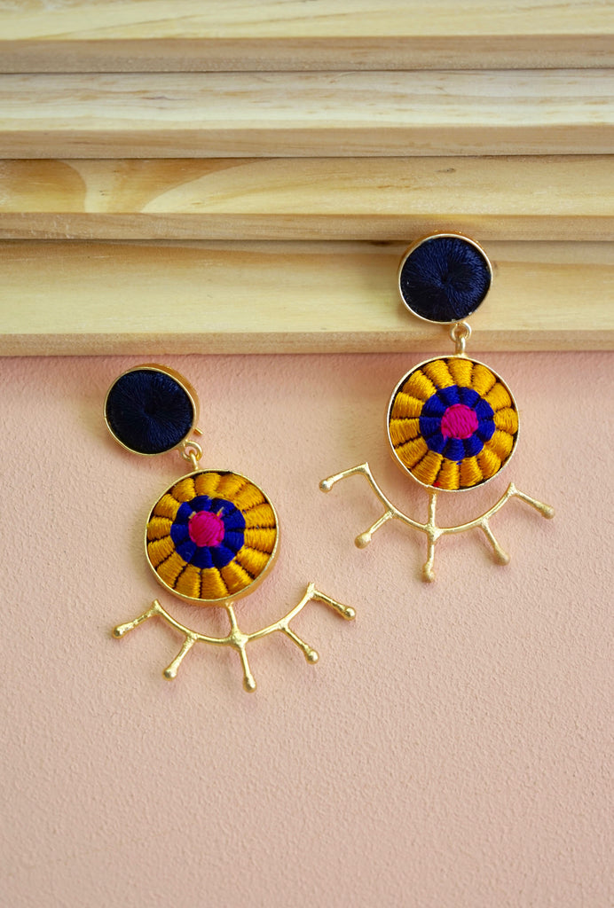 Suniti yellow earrings