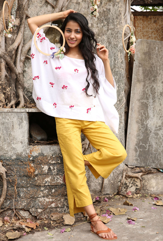 Jeet yellow high low pants
