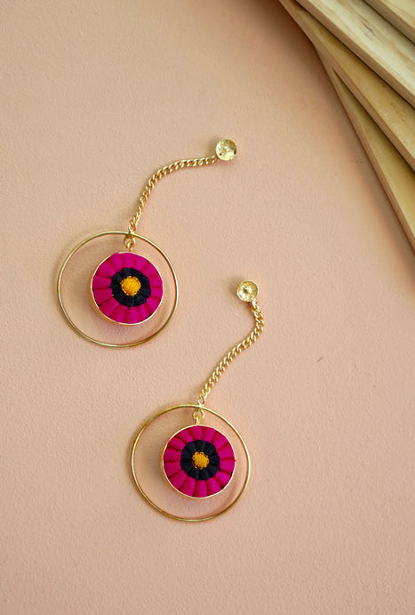Suhani pink drop earrings