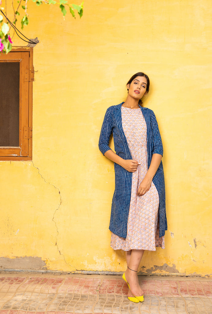 Elakshi indigo jacket dress