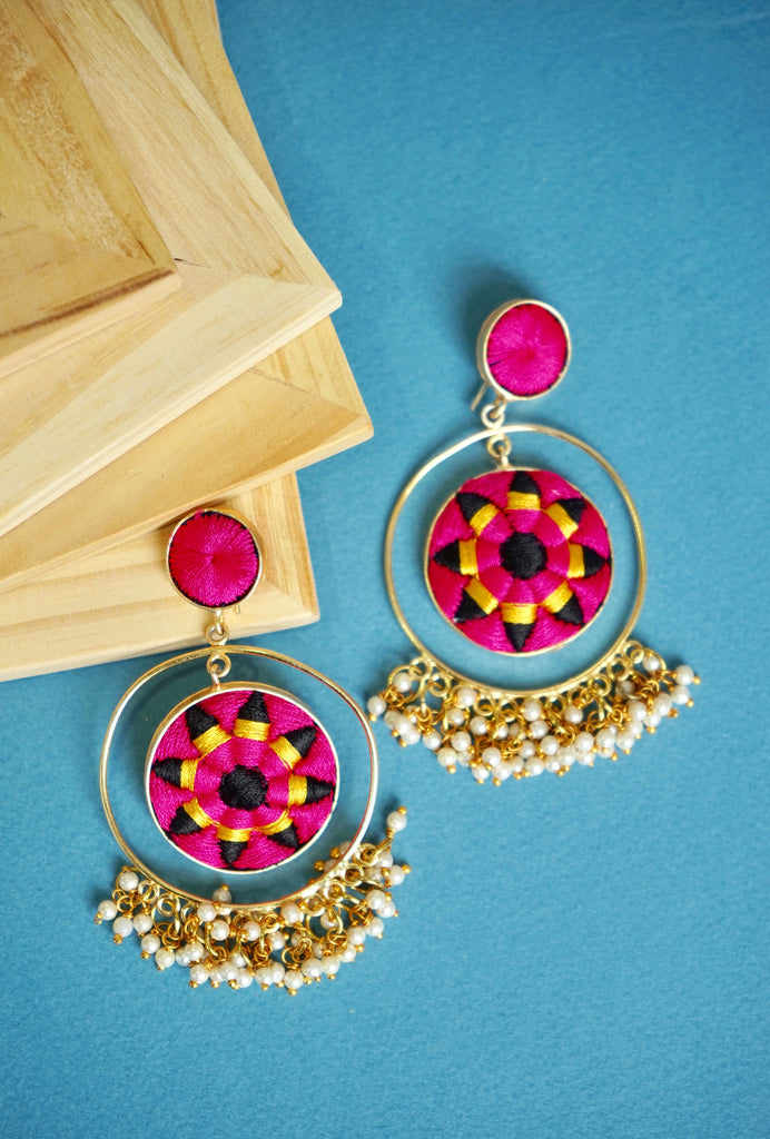 Anjali double hoop earrings