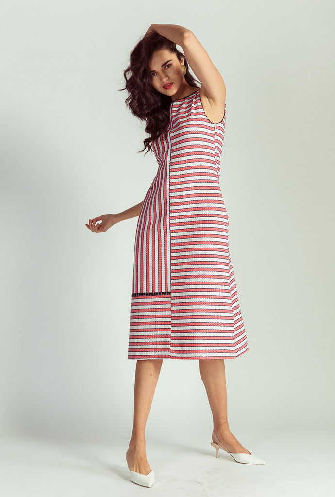 Kamnika striped midi dress