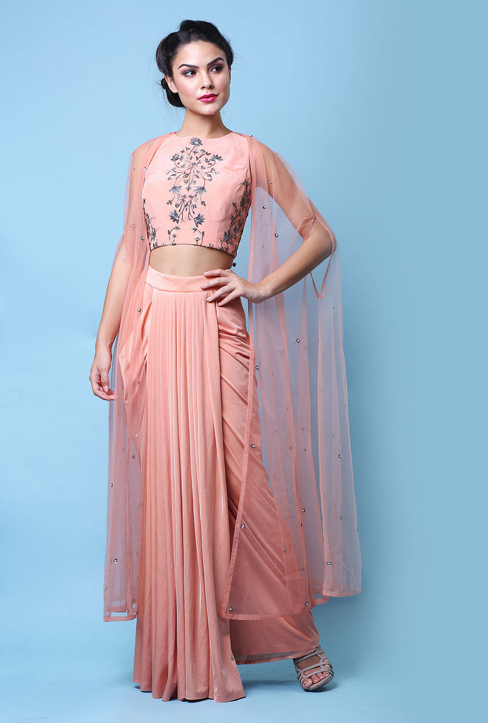 Thrishna peach lehenga set