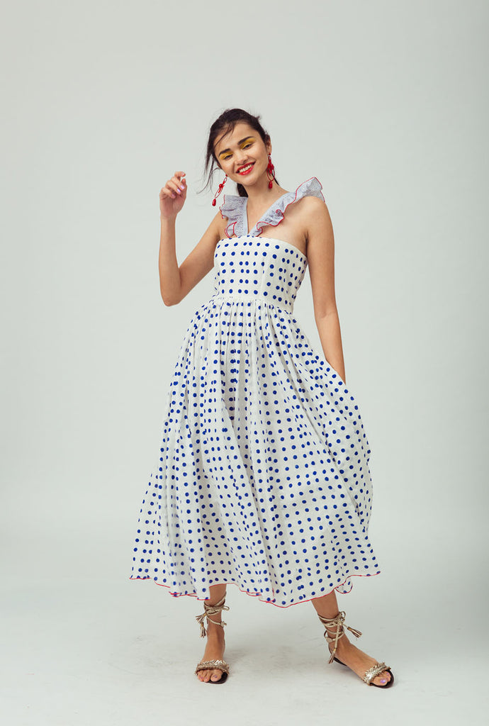 Ushmil white patterned dress