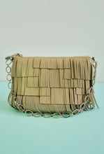 Zoya cream fringe shoulder bag