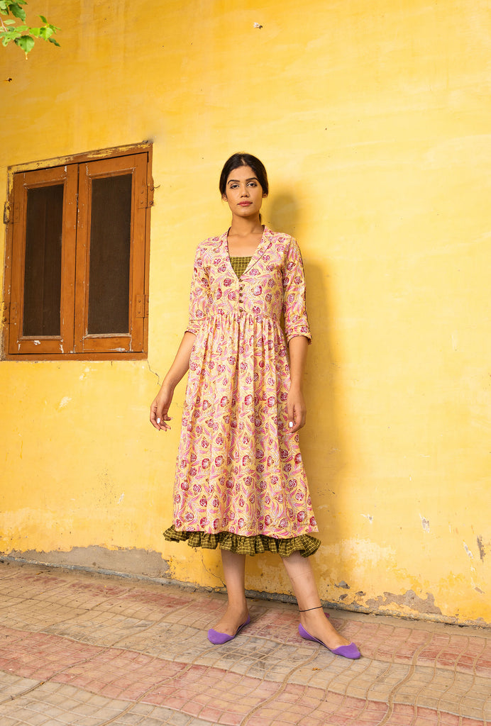 Sahana yellow dress