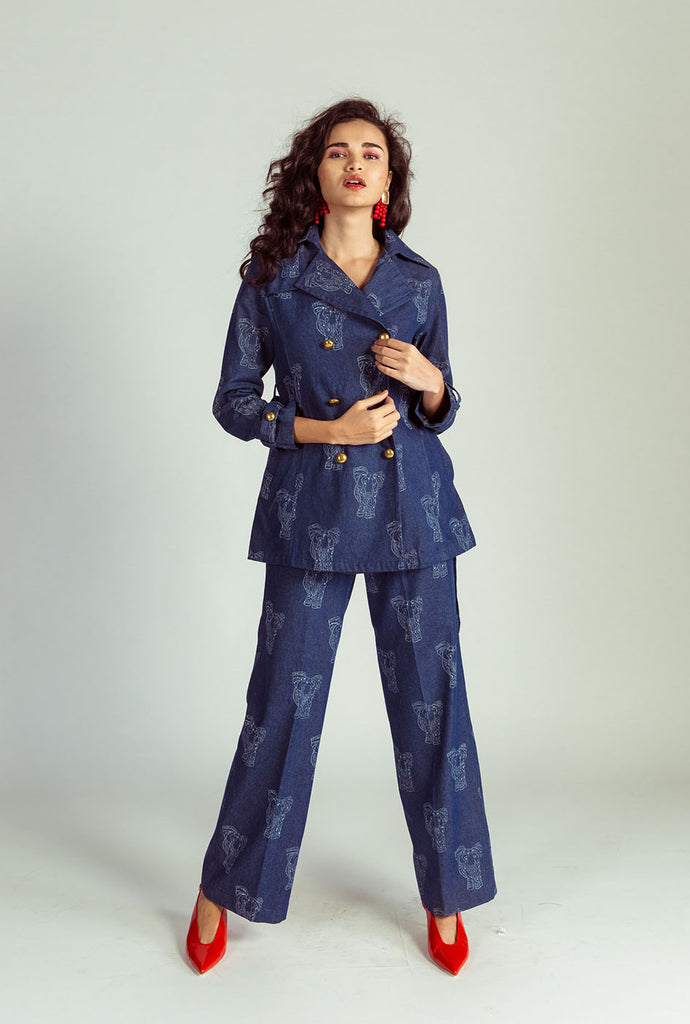 Theertha denim trousers