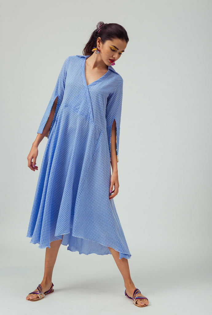 Nila blue maxi dress