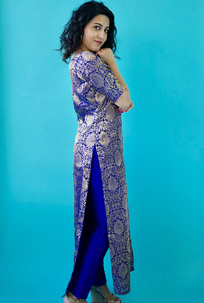 Diva blue kurta set
