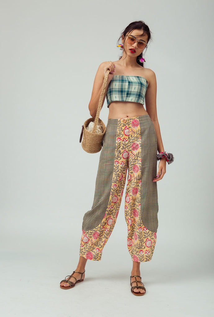 Kshithi patterned pants