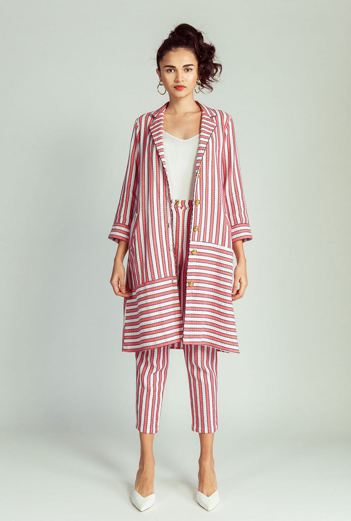 Triya striped pixie pants