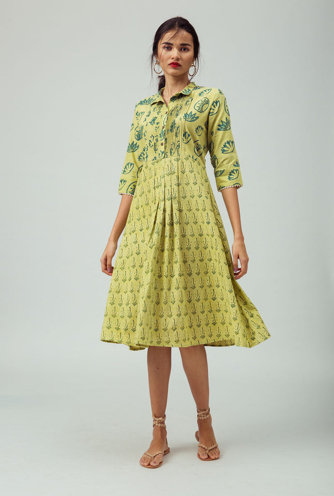 Bijal yellow shirt dress