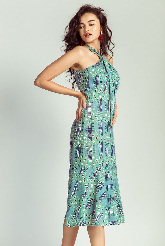 Bansuri halter neck dress