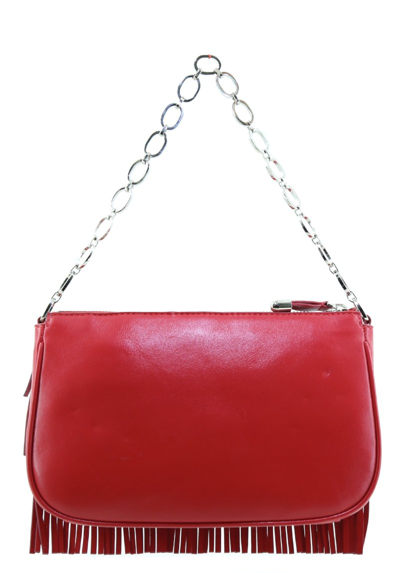 Zoya red fringe shoulder bag