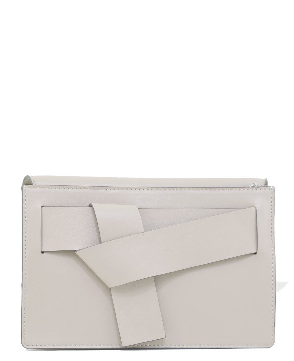 Uma cream tangled clutch