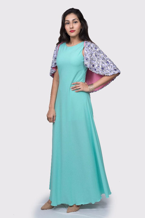 Shanti Maxi Dress with Cape