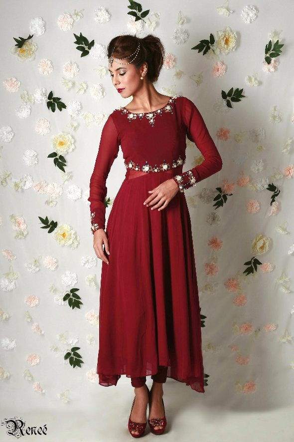 Angelina Rose Cut-Out Anarkali