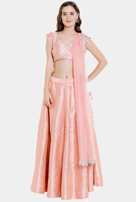 Urmila dusty rose lehenga set