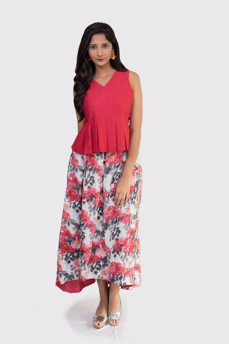 Dipu Printed Floral Skirt Set